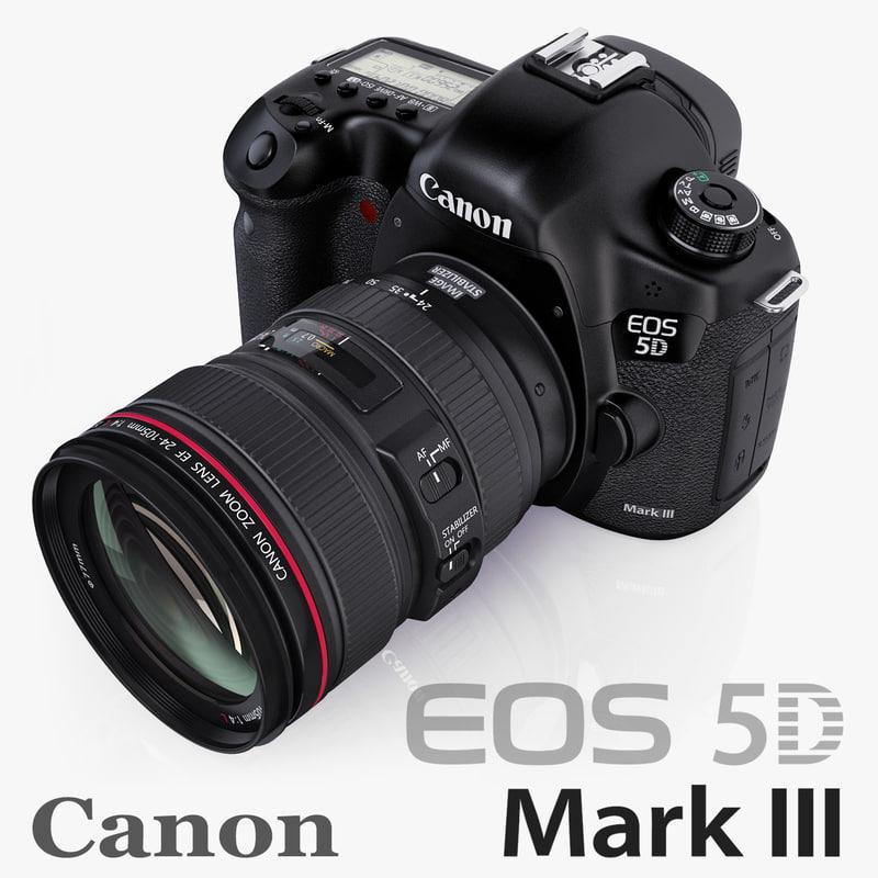 canon eos 5d mark iii 3d model
