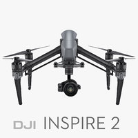 3d dji inspire 2 rigged