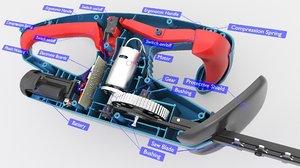 battery bushing saw 3D model