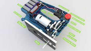 power battery saw 3D