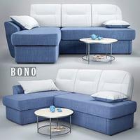 sofa bono 3d model