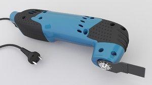 3D tool oscillating multitool