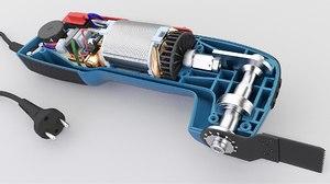 oscillating multitool 3D model