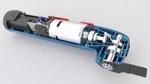 3D battery tool oscillating model