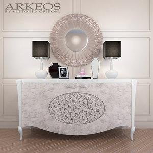 3d max sideboard arkeos kronos k100
