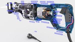 3D model parts saw