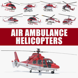 air ambulance helicopters 3D model