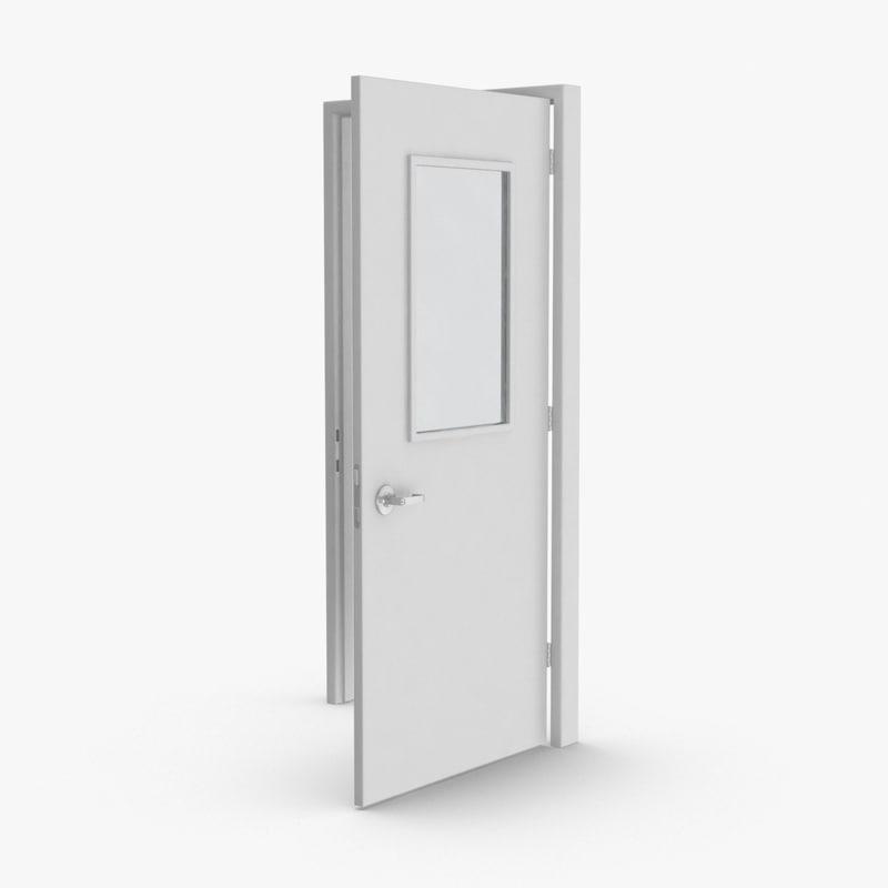 commercial-doors---door-1-open 3D