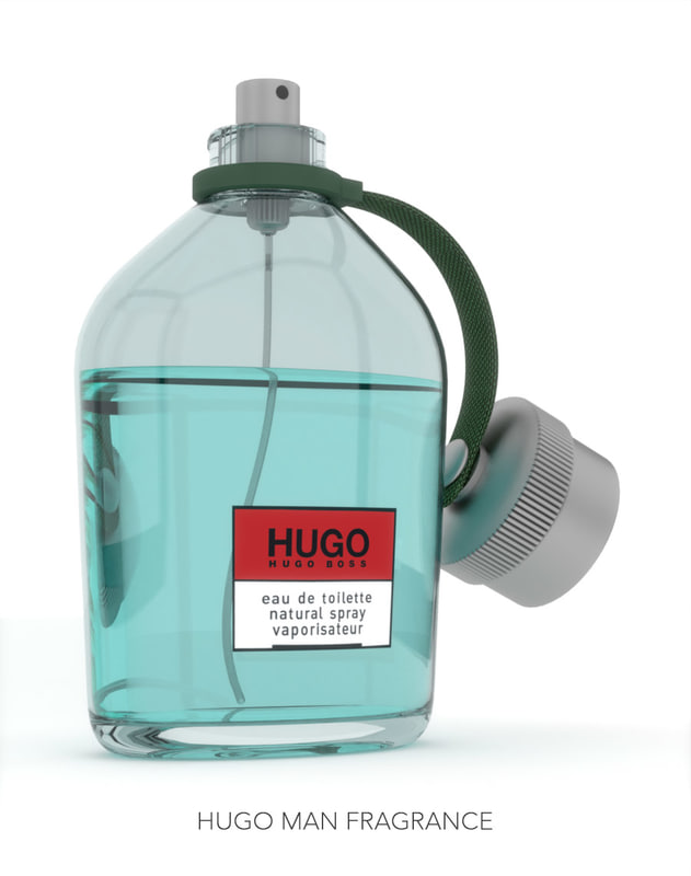 3d hugo man fragrance perfume bottle model