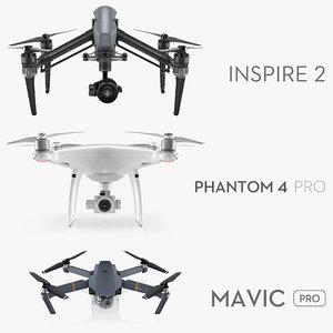 dji drones 2 cameras 3ds