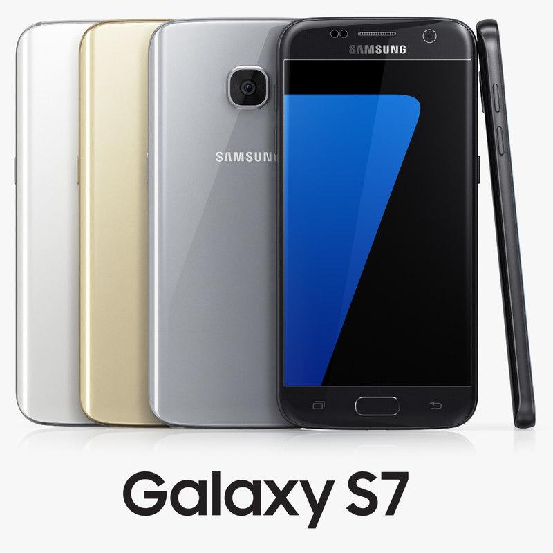samsung galaxy s7 colors 3d model