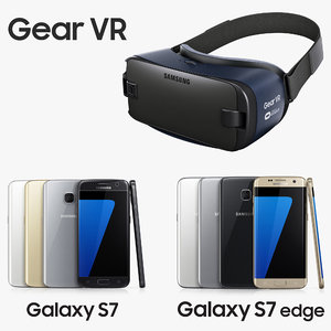 samsung gear headset galaxy 3d model