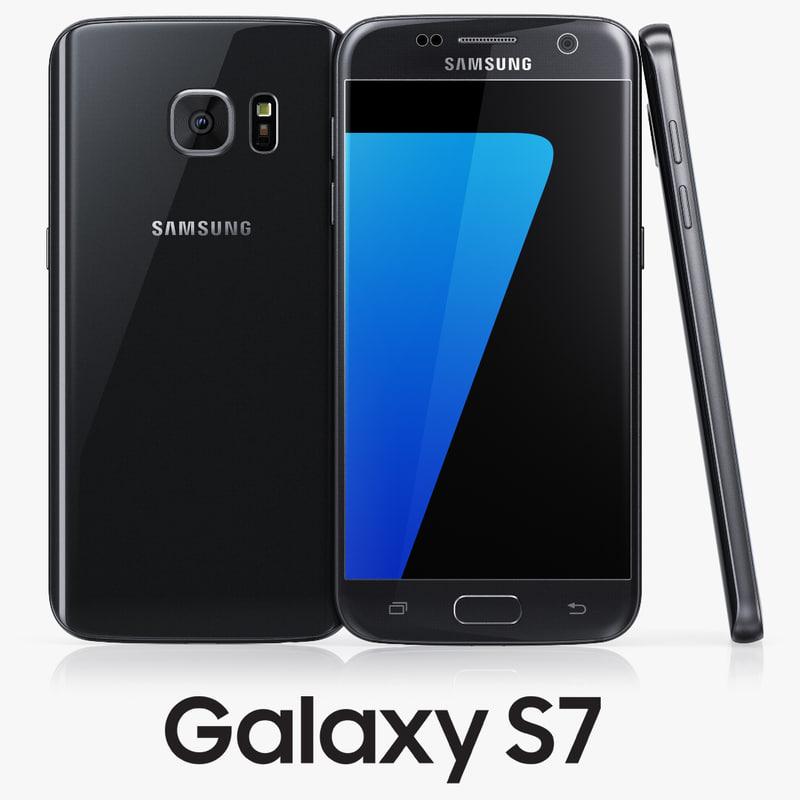 samsung galaxy s7 black 3d max