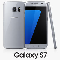 samsung galaxy s7 silver c4d