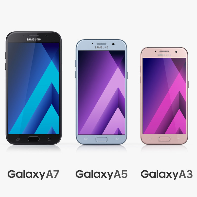 samsung galaxy a3 a5 3d model