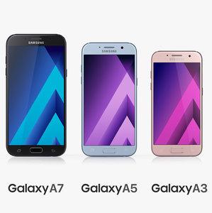 samsung galaxy a3 a5 3d model