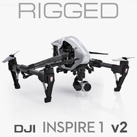 DJI Inspire 1 v2 (only the 3ds Max file is rigged)