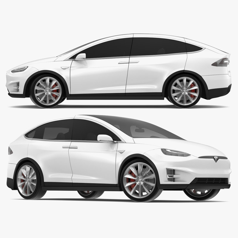 3d model tesla x modeled s