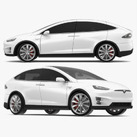 2017 Tesla Model X Solid White/Pearl White Multi-coat