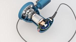 3D grinder oscillatory tool model