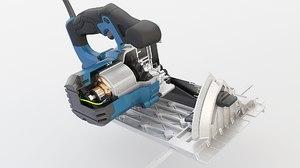 3D power circular saw