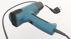 3D model gun heat