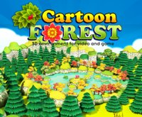 plants trees forest cartoon fbx