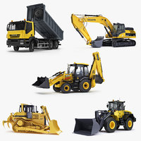 3d model construction equipment wheel loader