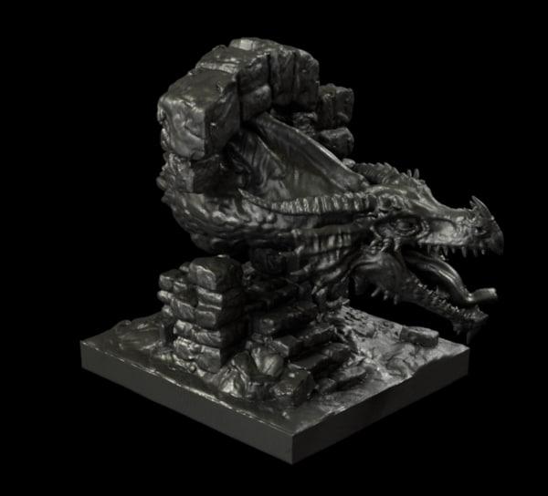 dragon printing 3d model
