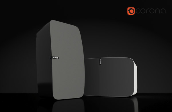 sonos play 5 speaker 3d model