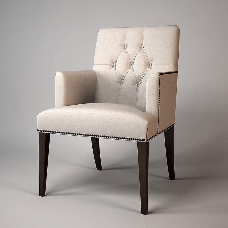 3d model baker armchair 7847