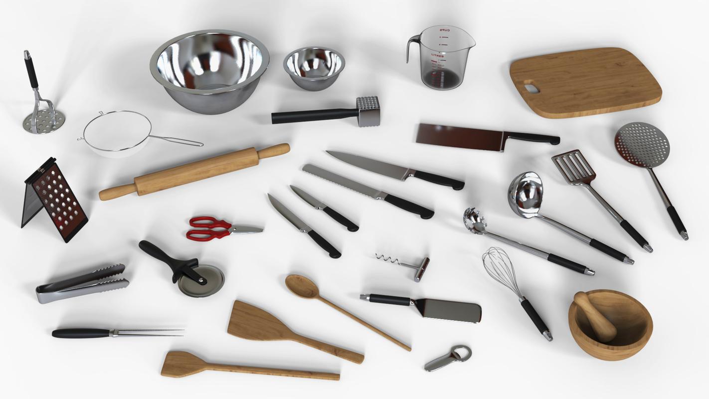 kitchen utensils knife obj