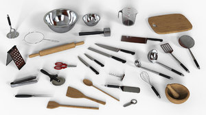 kitchen utensils knife obj