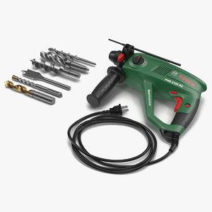 pneumatic hammer bosch drill bits 3d model