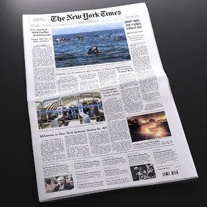 3d new newspaper model