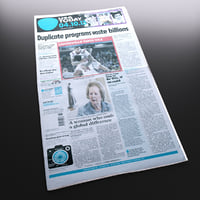 new newspaper 3d model