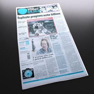 new newspaper 3d model