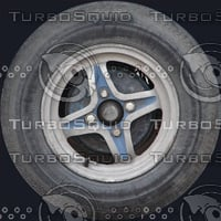 Old car wheel texture
