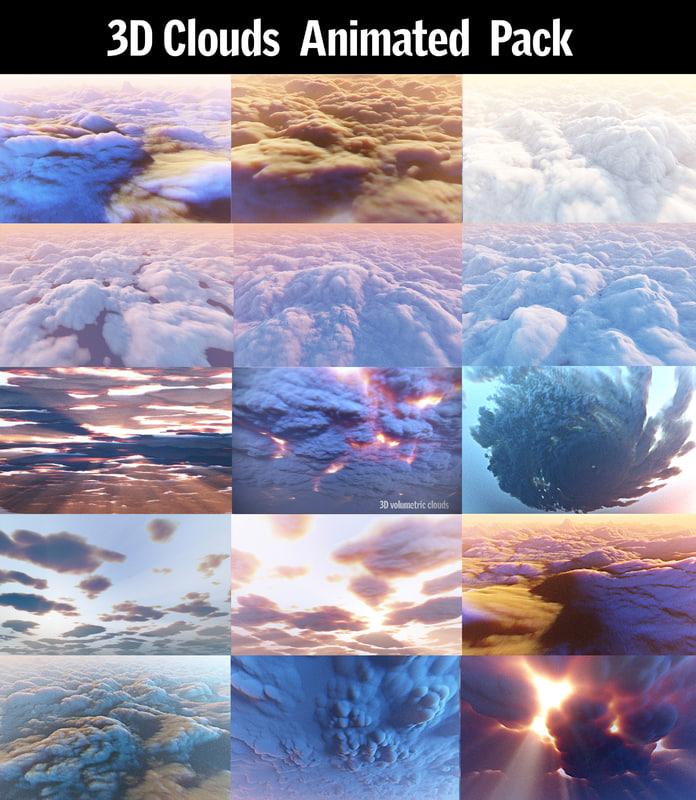 clouds pack 15 3D
