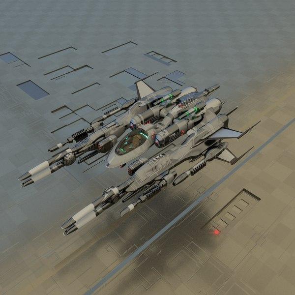 spaceship fighter 3D