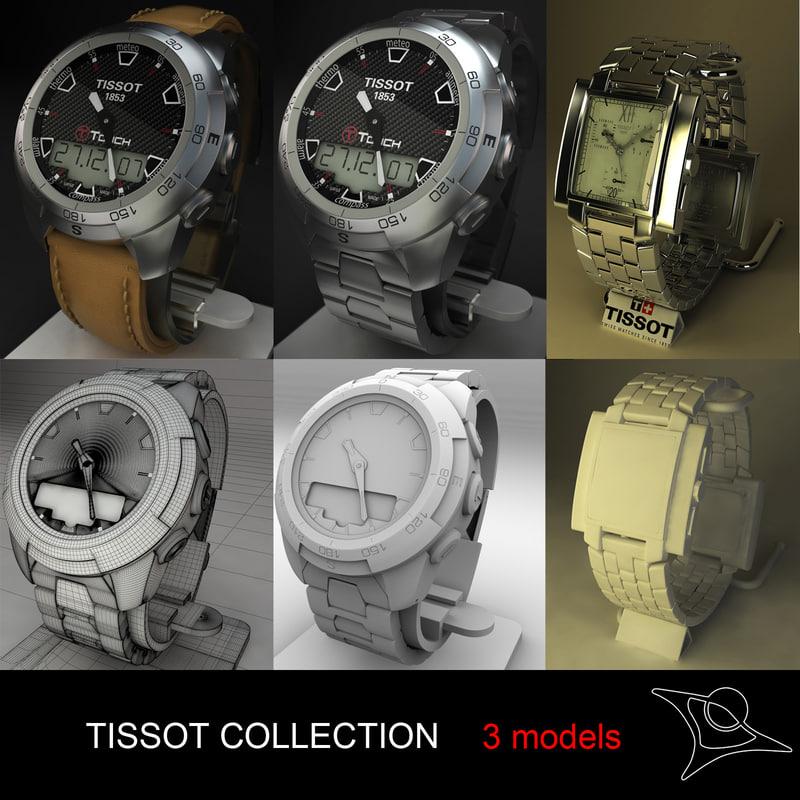 tissot watches 3d max