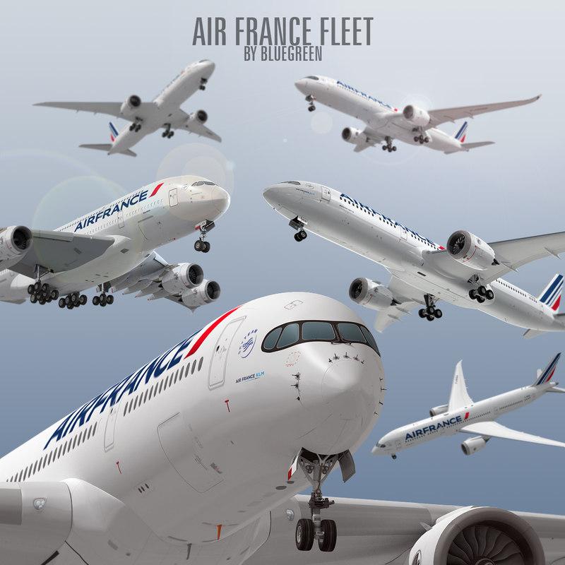 air france fleet airbus 3d 3ds