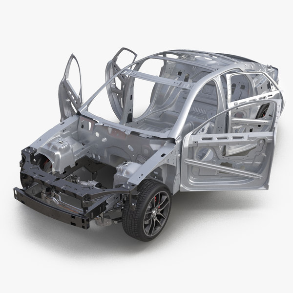 sedan frame chassis 2 3d model