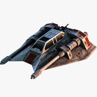 3d rebel snowspeeder snow