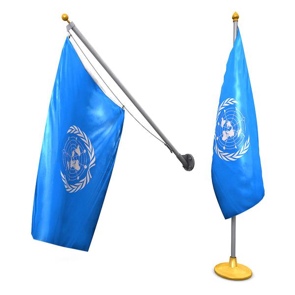 obj flag pole pack