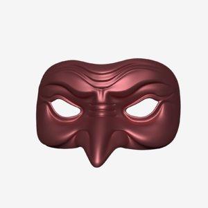 mardi gras mask 3d 3ds