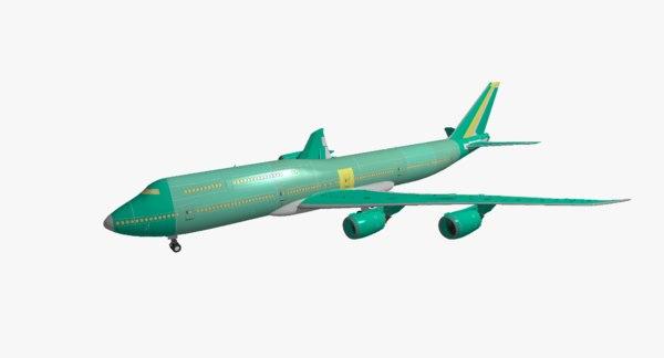 boeing 747-8i assembly 3d model