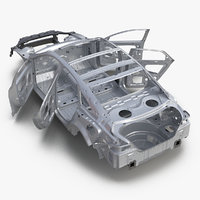 3d car frame 4 rigged