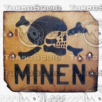 Minefield Sign (German)