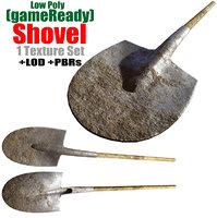 fbx shovel spade tools